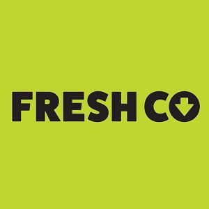 Logo for Freshco grocery store. Click here to go to their website.