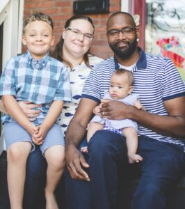 Board member Lindsay Reimers and her family. Click to learn more about Lindsay.